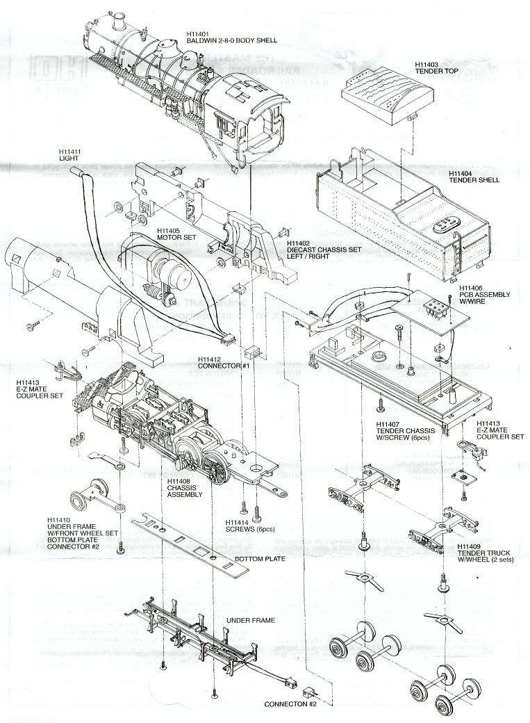 bachmann information and diagrams - literature page 45  ho seeker