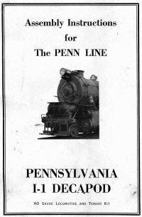 Penn Line 2-10-0 I-1 Decapod Instructions