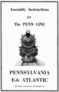 Penn Line 4-4-2 E-6 Atlantic Instructions