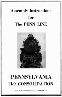 Penn Line 2-8-0 H-9 Consolidation Instructions