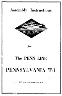Penn Line 4-4-4-4 T-1 Duplex Instructions